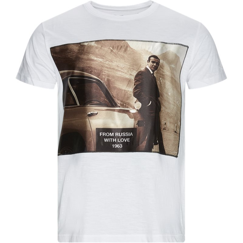 Image of   BASTILLE Regular fit SLUB 007 T-shirts Hvid