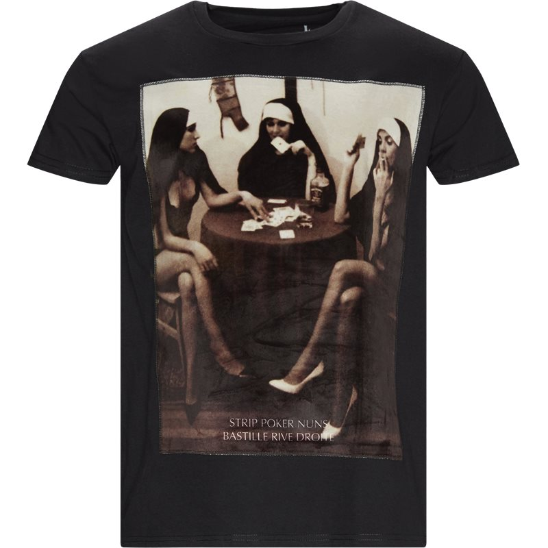 Image of BASTILLE Regular fit NUNS T-shirts Sort