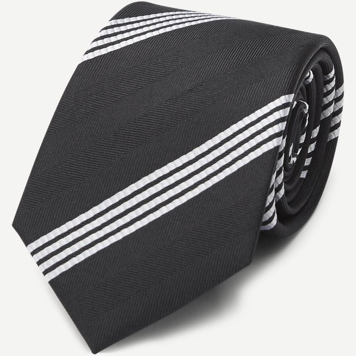 Classic Black Striped Slips - Slips - Sort