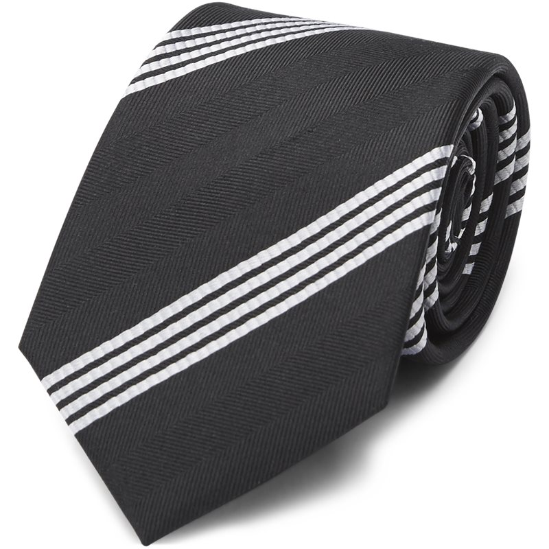 Image of   An Ivy - CLASSIC BLACK STRIPED SILK Slips