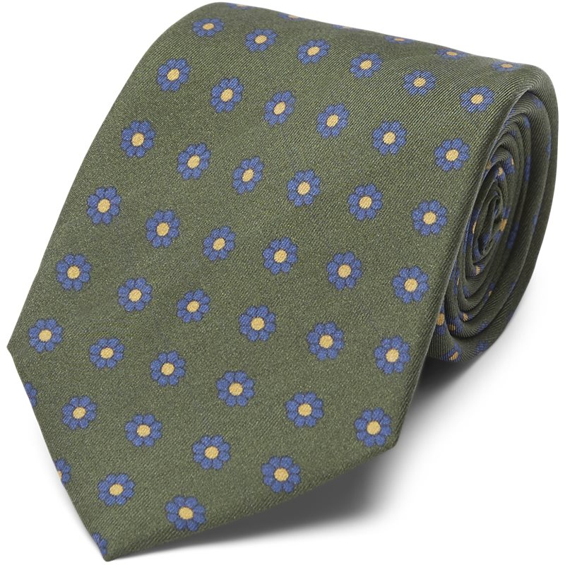 Image of   An Ivy - THE GREEN FLOWER SILK TIE Slips