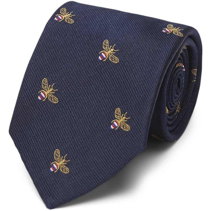 Image of An Ivy - NAVY BEE SILK TIE Slips