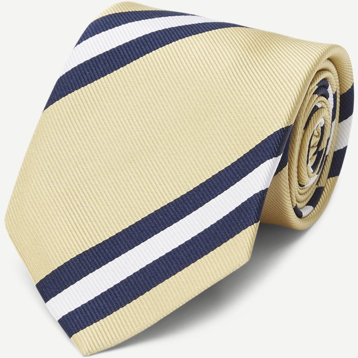 Dusted Yellow Striped Tie - Slips - Gul