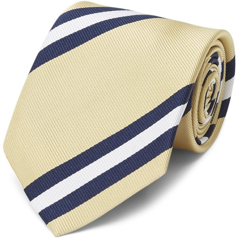 Image of   An Ivy - Dusted Yellow Striped Tie