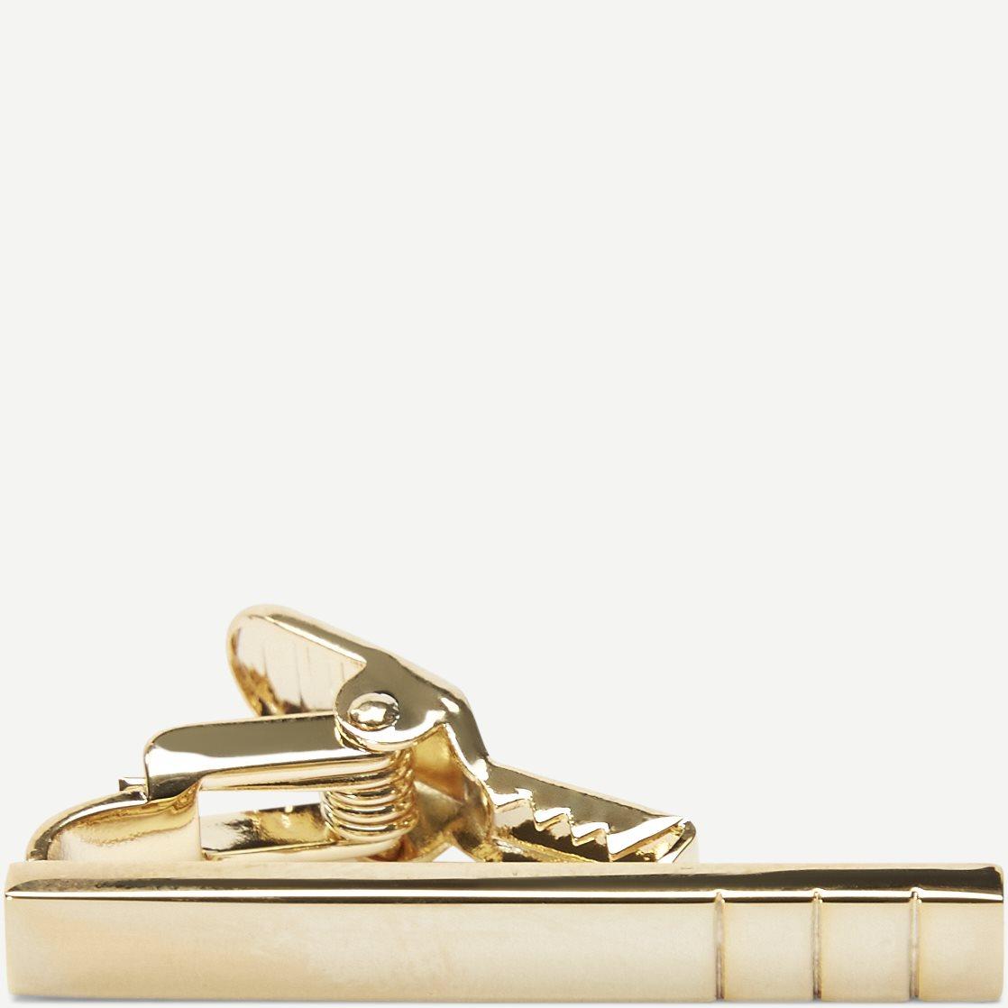 Triple Striped Golden Bar Slipsenål - Accessories - Guld