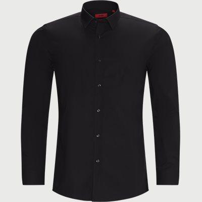Elisha02 Shirt Ekstra slim fit | Elisha02 Shirt | Sort