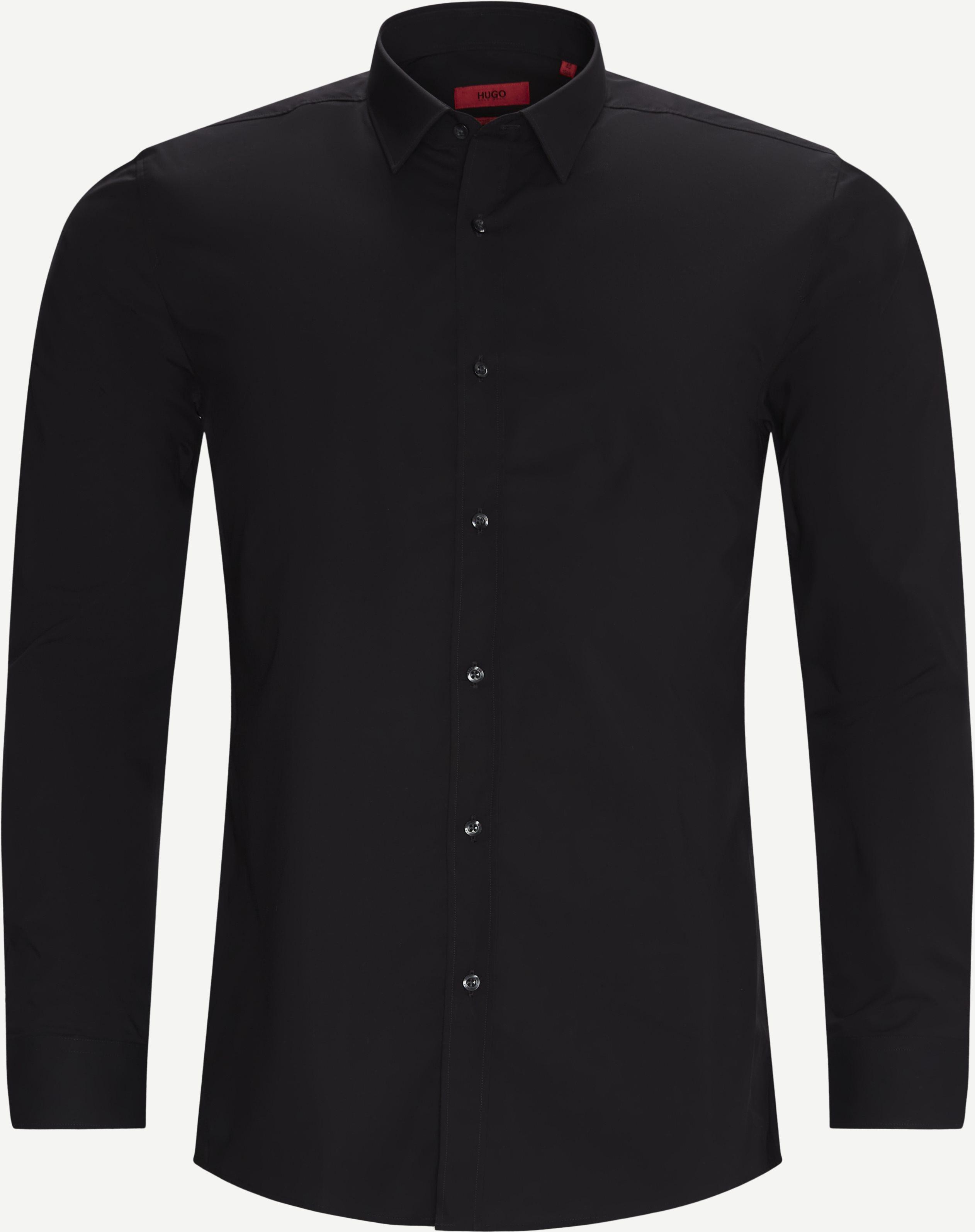 Elisha02 Shirt - Shirts - Ekstra slim fit - Black