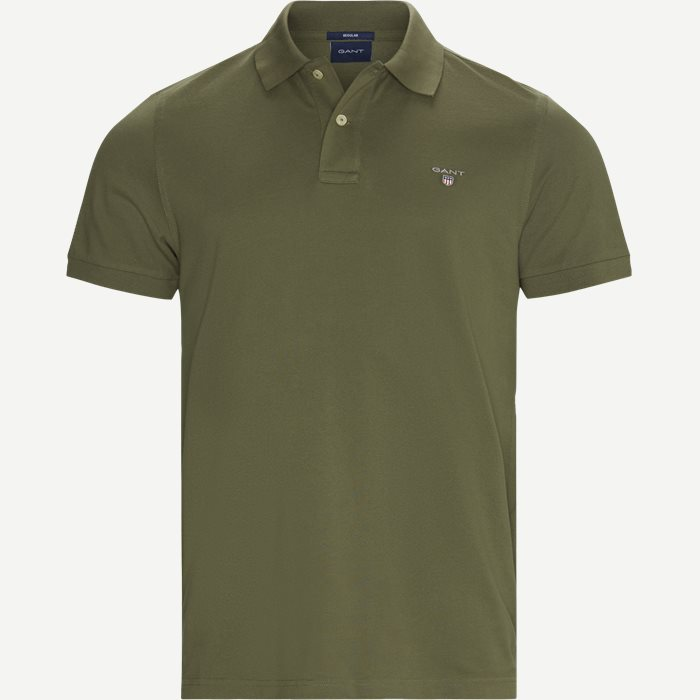 The Original Piqué SS Rugger Polo T-shirt - T-shirts - Regular - Army