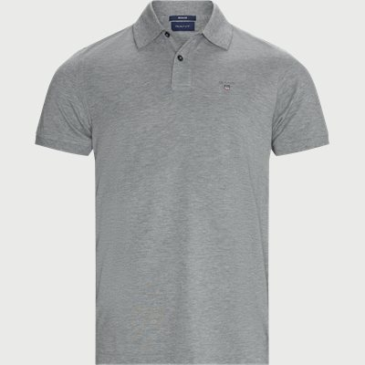 The Original Piqué SS Rugger Polo T-shirt Regular | The Original Piqué SS Rugger Polo T-shirt | Grå