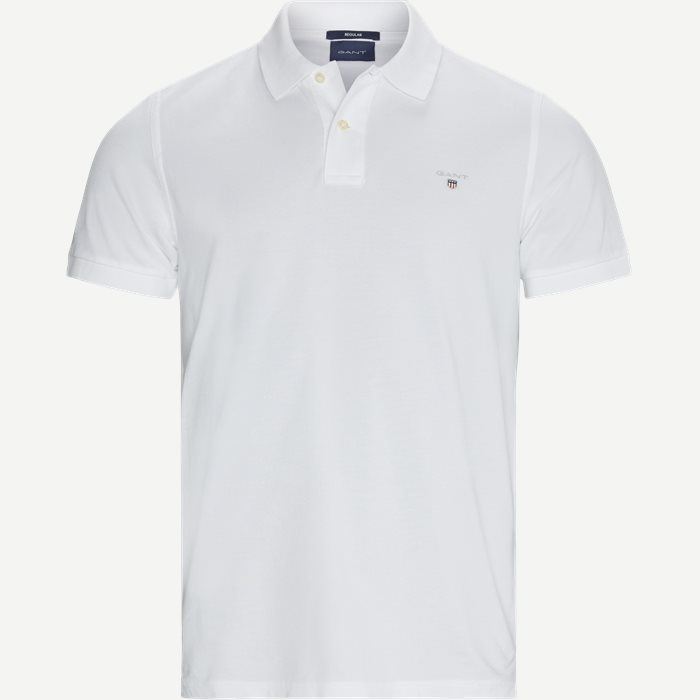 The Original Piqué SS Rugger Polo T-shirt - T-shirts - Regular - Hvid