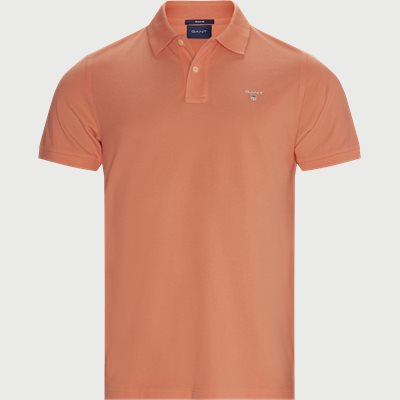 The Original Piqué SS Rugger Polo T-shirt Regular | The Original Piqué SS Rugger Polo T-shirt | Orange