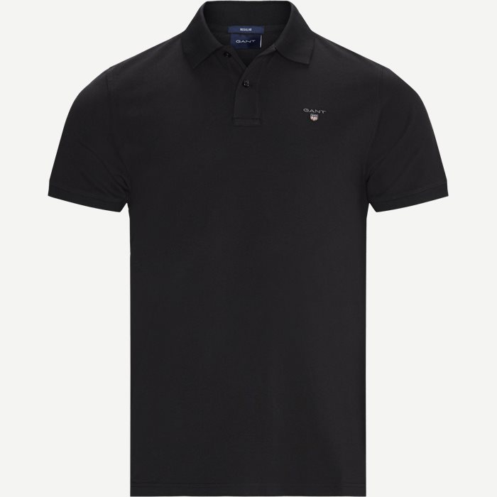 The Original Piqué SS Rugger Polo T-shirt - T-shirts - Regular - Sort