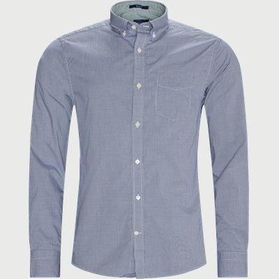 Micro Check Shirt Regular | Micro Check Shirt | Blå