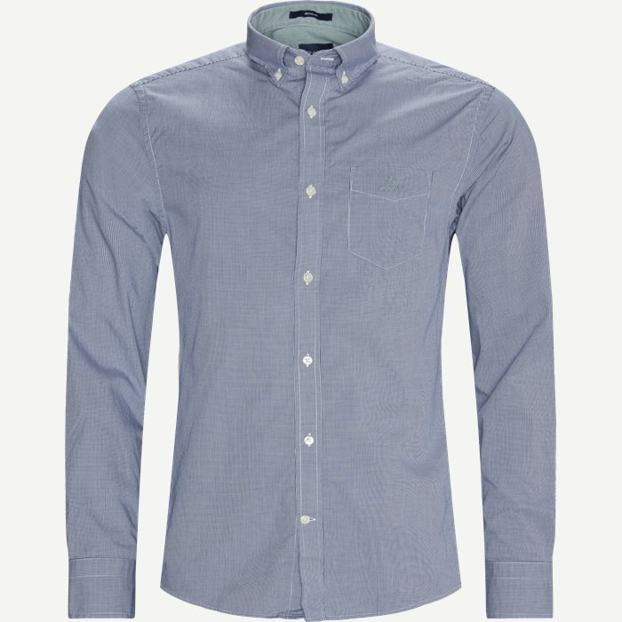 Micro Check Shirt - Skjorter - Regular - Blå