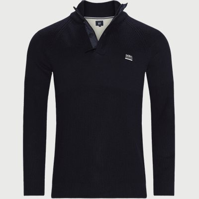 Stan Half-Zip Sweater  Regular | Stan Half-Zip Sweater  | Blå