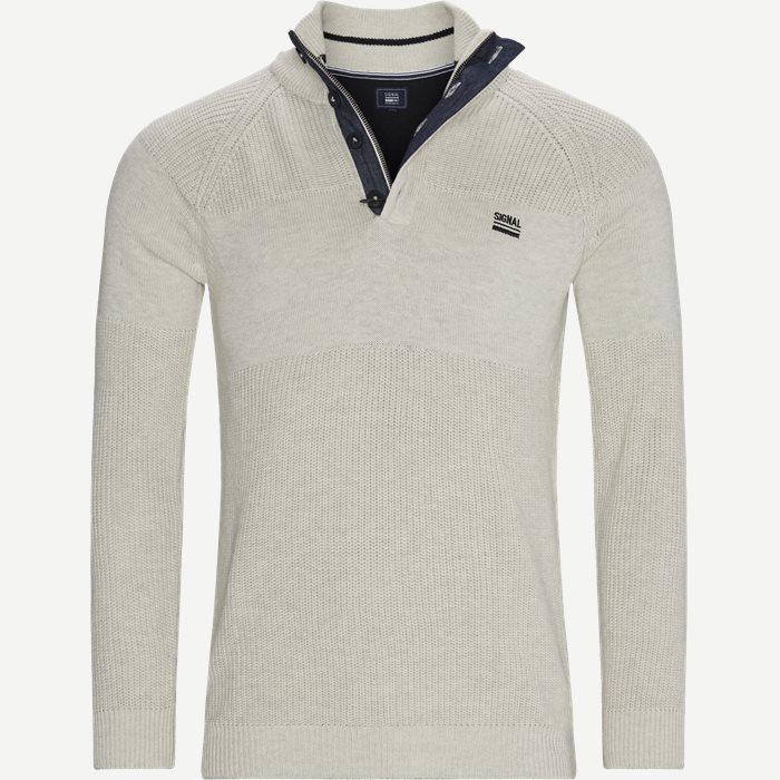 Stan Half-Zip Sweater  - Knitwear - Regular - Sand