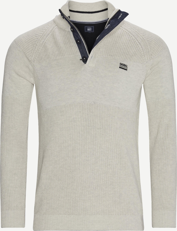 Stan Half-Zip Sweater  - Stickat - Regular - Sand