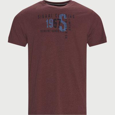Regular fit | T-Shirts | Weinrot
