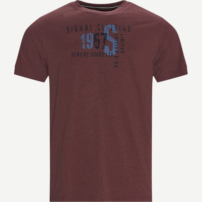 Wayne Logo T-shirt - T-shirts - Regular - Bordeaux