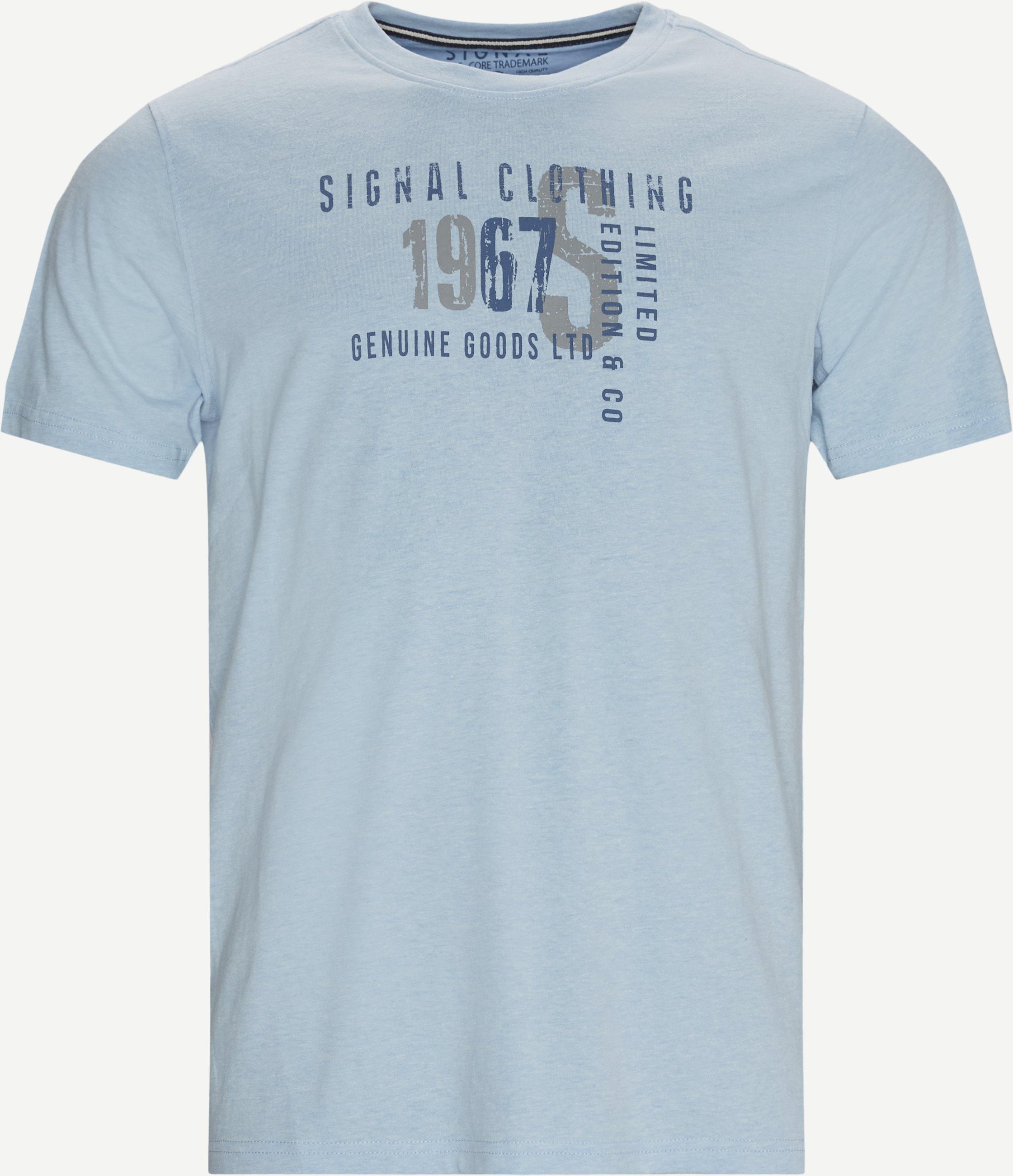 Wayne Logo T-shirt - T-shirts - Regular - Blå