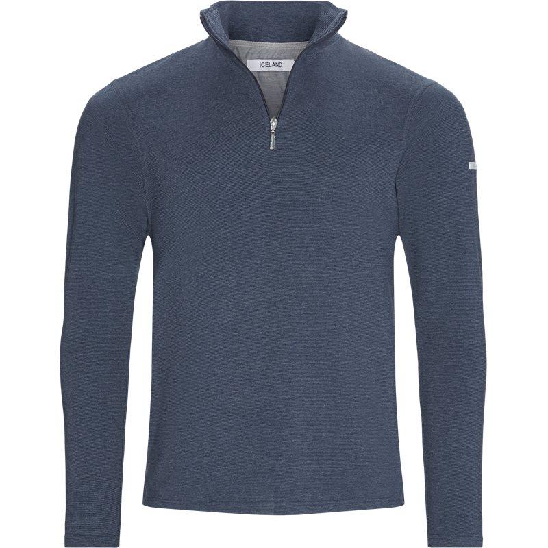 island – Island - bjørk half zip sweatshirt fra kaufmann.dk