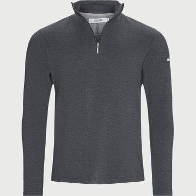 Bjørk Half Zip Sweatshirt Regular | Bjørk Half Zip Sweatshirt | Grå