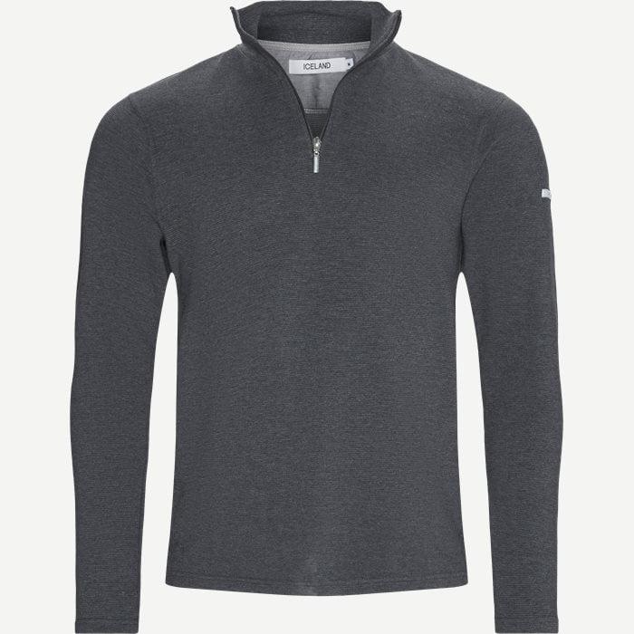 Bjørk Half Zip Sweatshirt - Sweatshirts - Regular - Grå