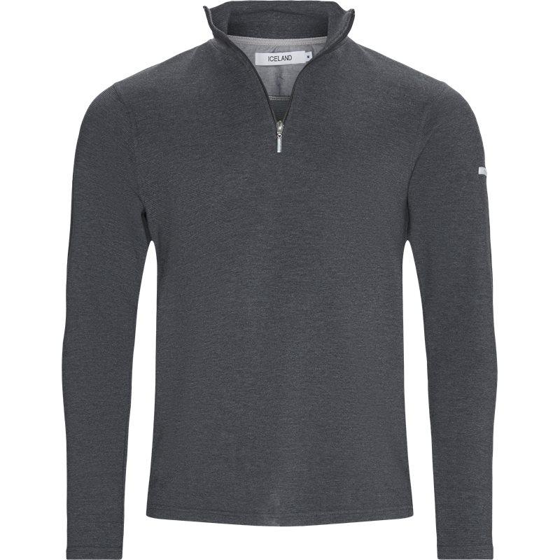 island – Island - bjørk half zip sweatshirt på kaufmann.dk