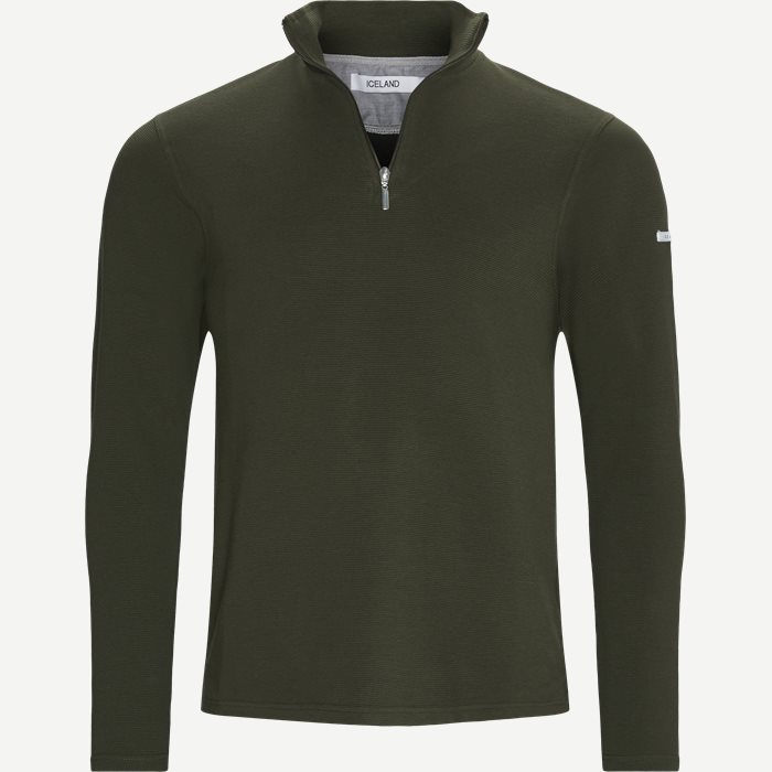 Bjørk Half Zip Sweatshirt - Sweatshirts - Regular - Army