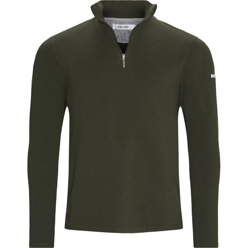 island Island - bjørk half zip sweatshirt på kaufmann.dk