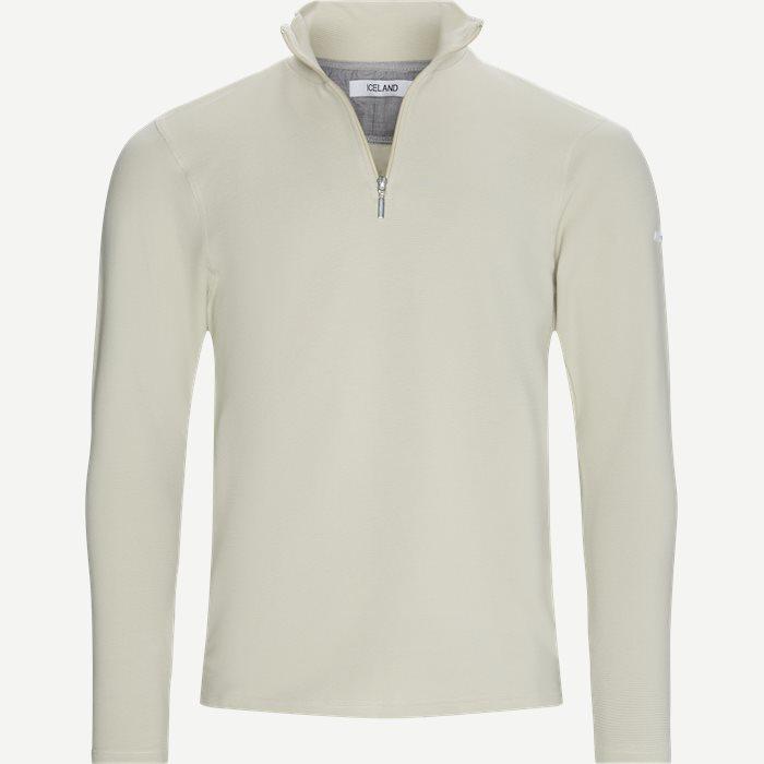 Bjørk Half Zip Sweatshirt - Sweatshirts - Regular - Sand