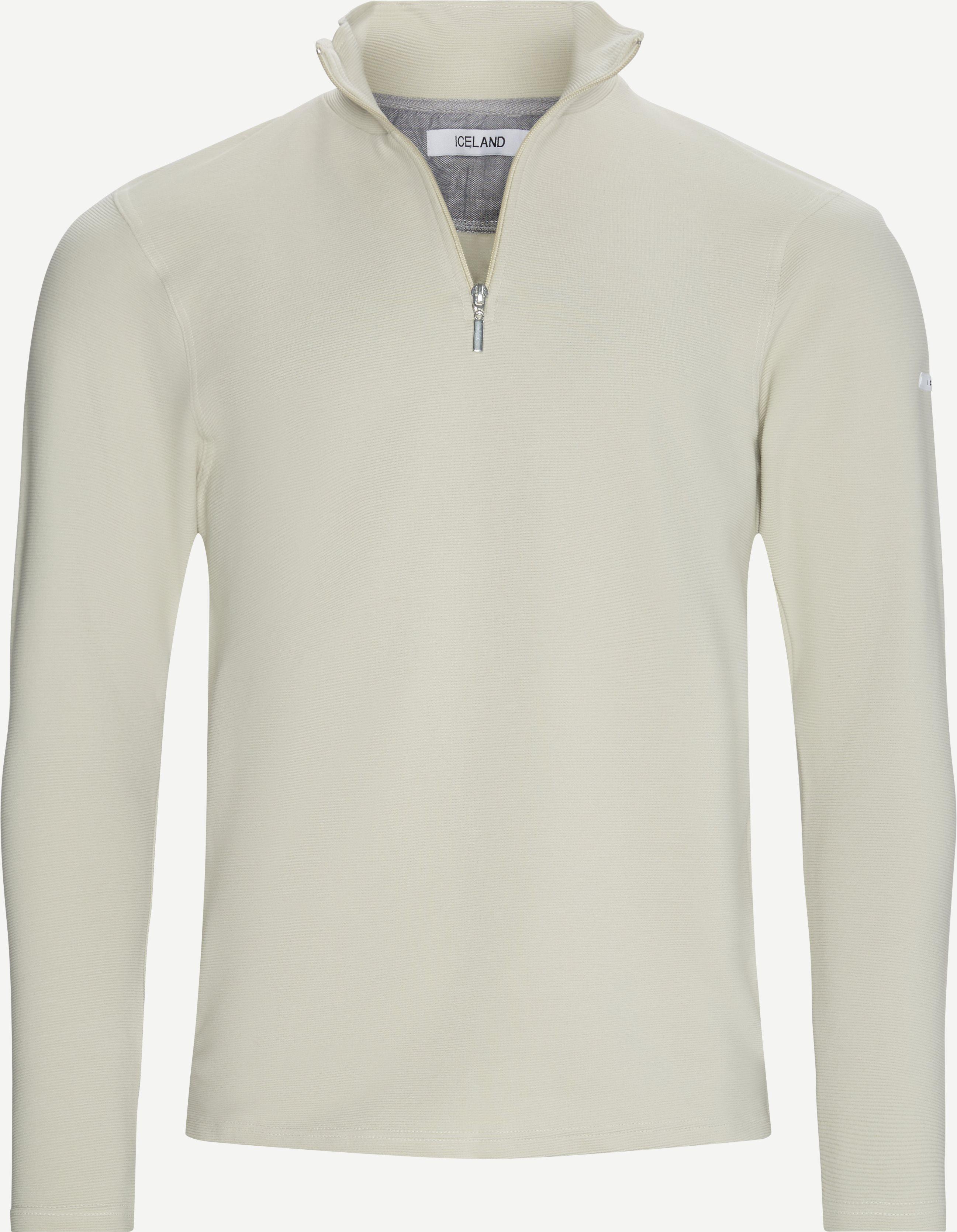 Bjørk Half Zip Sweatshirt - Sweatshirts - Regular fit - Sand