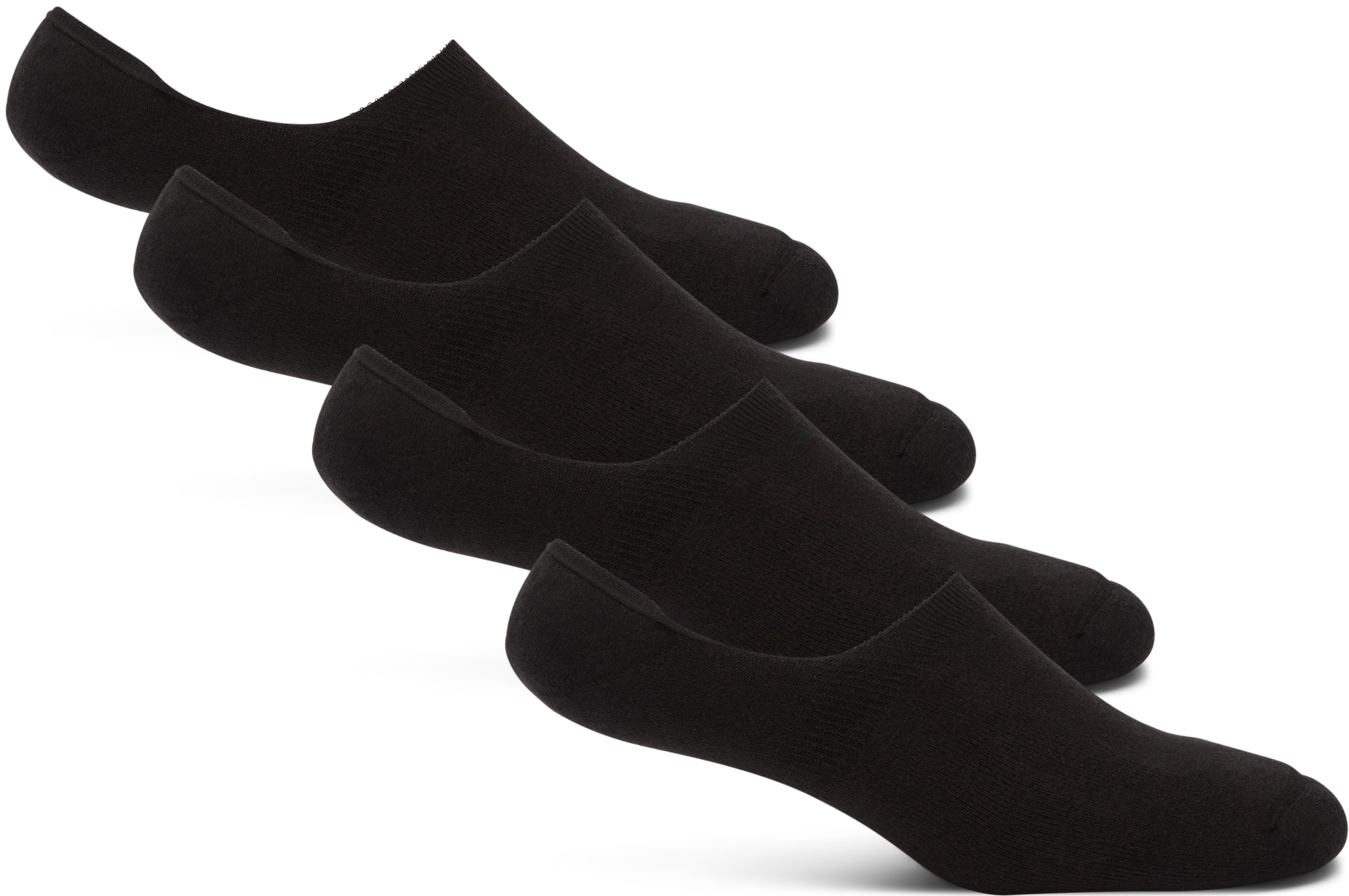Invisible 4-Pack Socks - Strømper - Sort