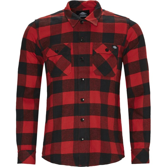 Sacramento Relaxed Shirt - Skjorter - Relaxed fit - Rød