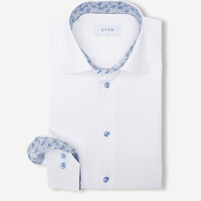 3000 Signature Twill Skjorte - Skjorter - Hvid