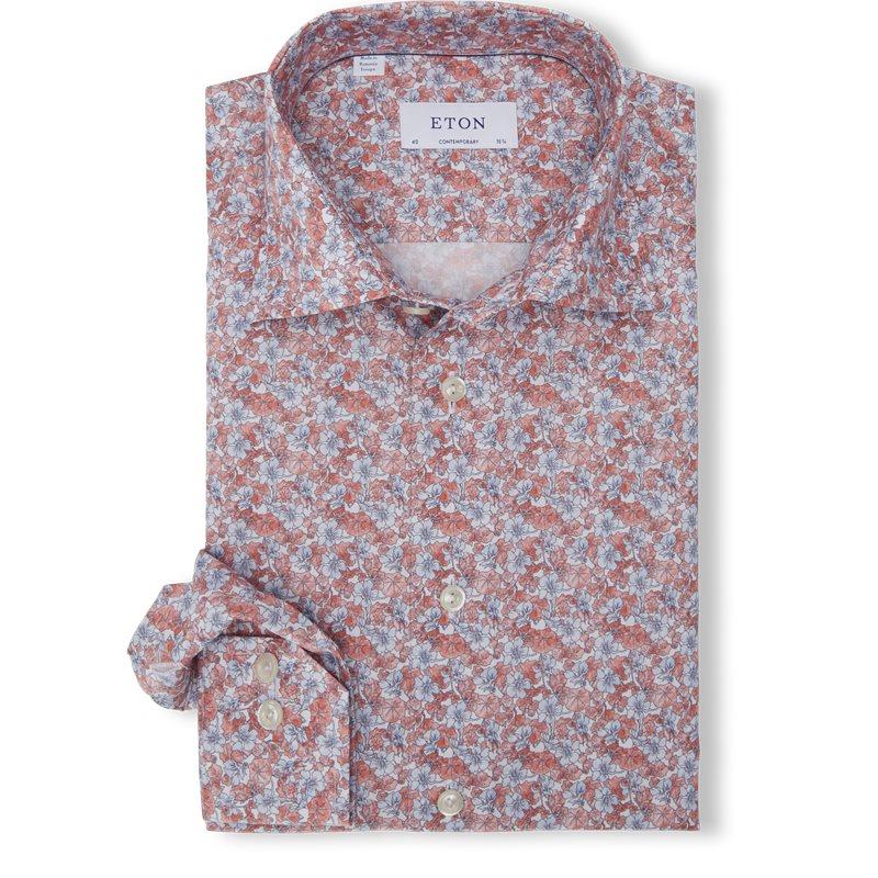 eton Eton - flower twill shirt på kaufmann.dk