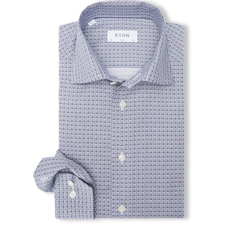 eton Eton - 2102 poplin skjorte fra kaufmann.dk