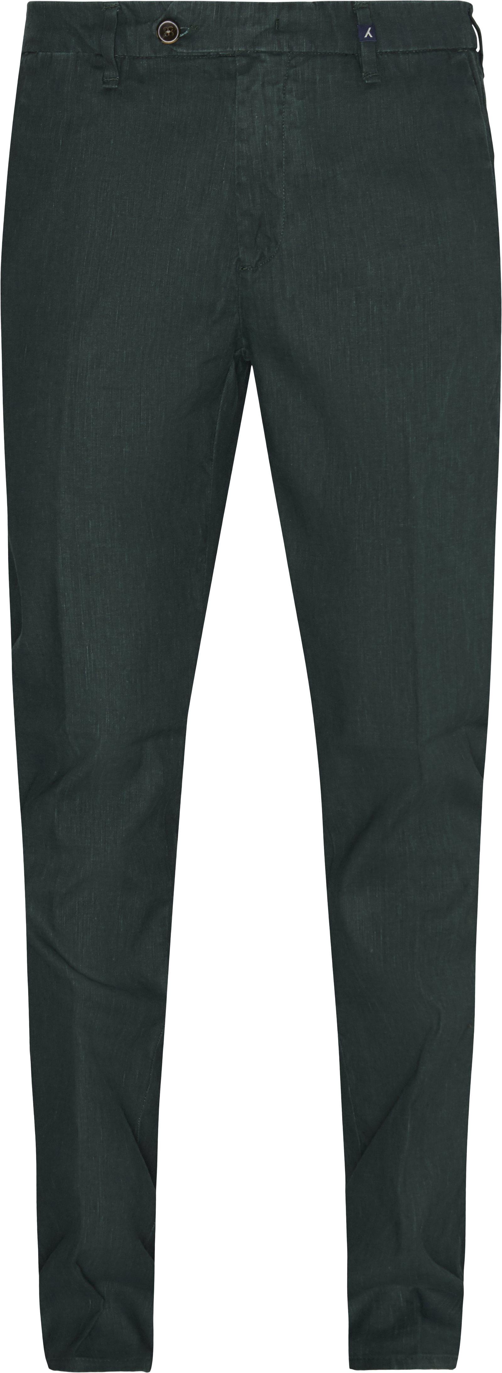 Trousers - Regular fit - Green