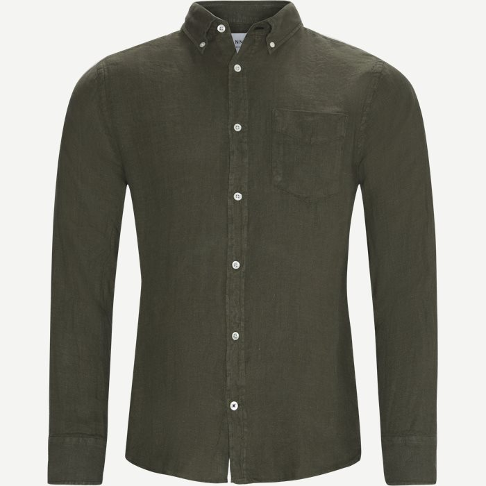 Levon Shirt - Skjorter - Regular - Army