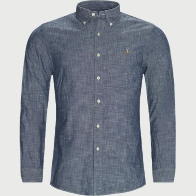 Button-Down Cotton Shirt Slim | Button-Down Cotton Shirt | Denim