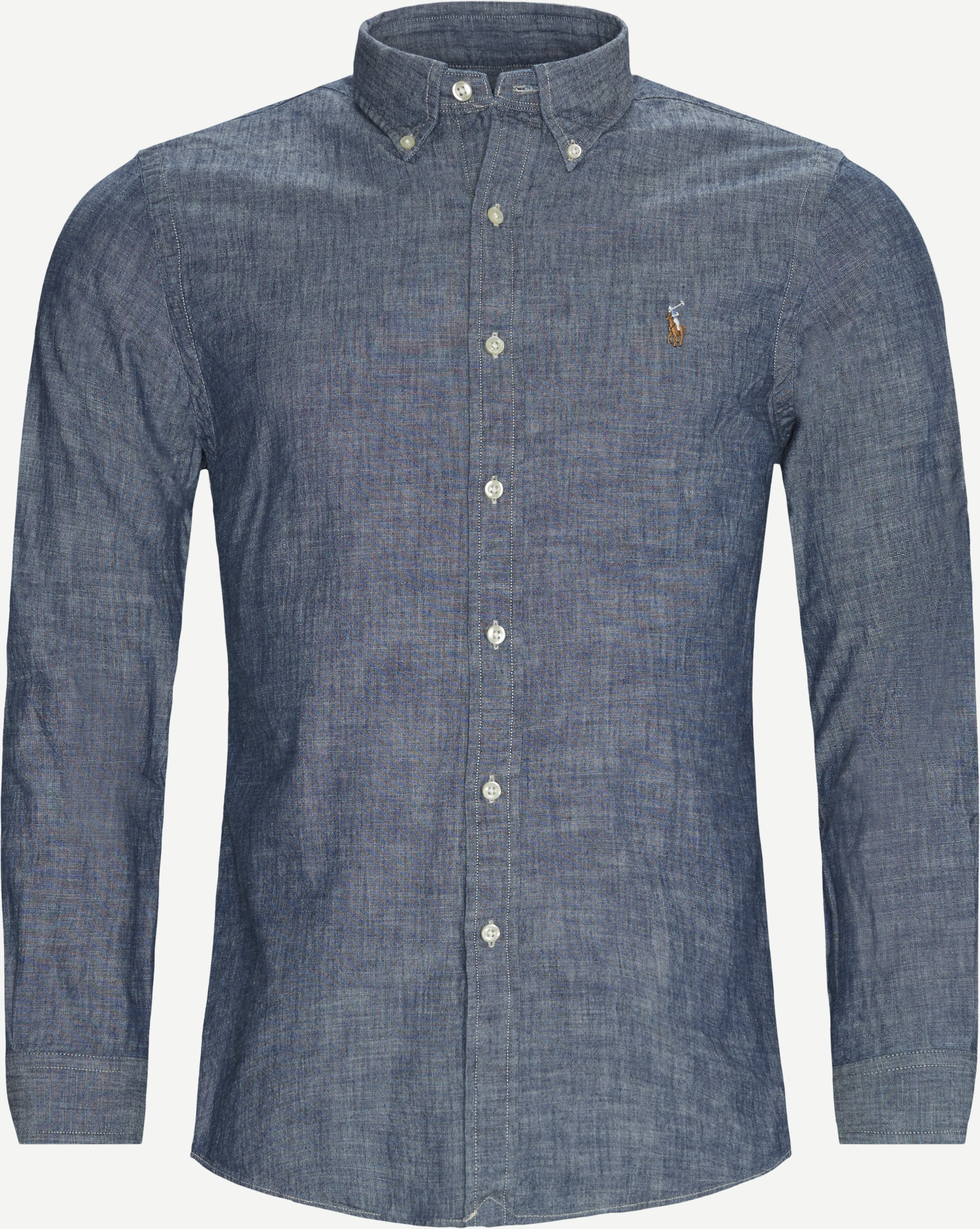 Hemden - Slim - Jeans-Blau
