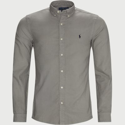 Button-Down Oxford Skjorte Slim fit | Button-Down Oxford Skjorte | Grå