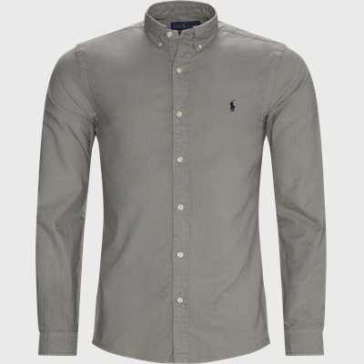 Button-Down Oxford Skjorte Slim | Button-Down Oxford Skjorte | Grå