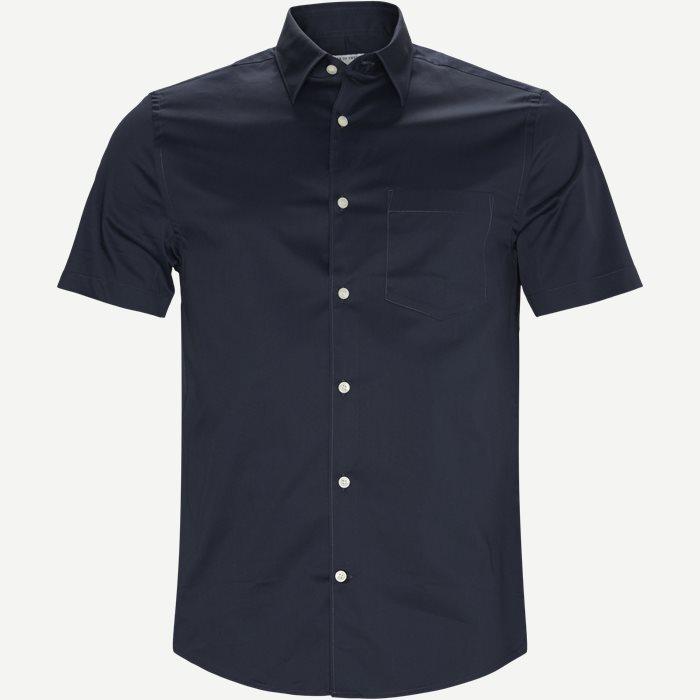 Nitor Kortærmet Skjorte - Kortærmede skjorter - Slim - Blå