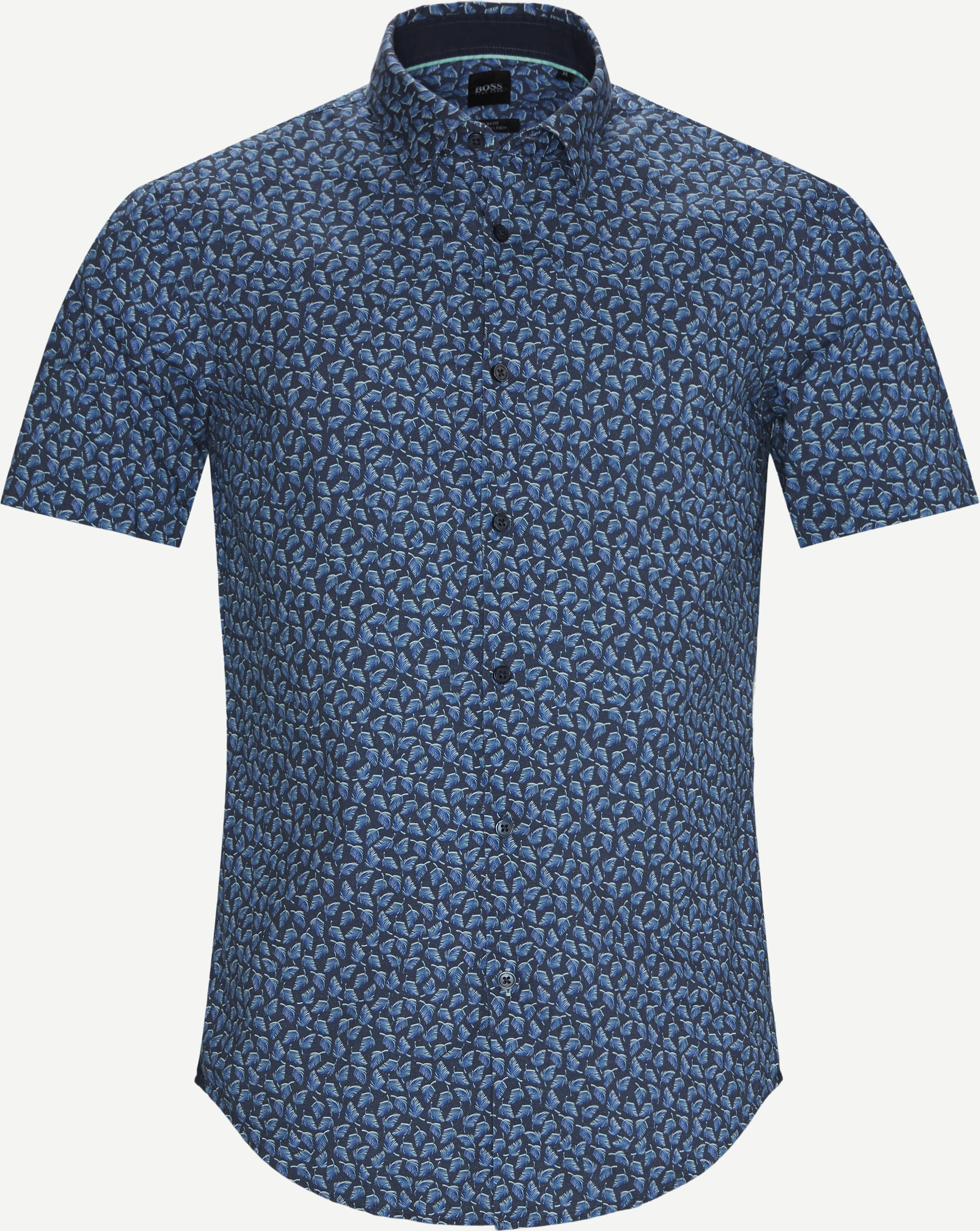 Ronn_2F SS Shirt - Short-sleeved shirts - Slim - Blue