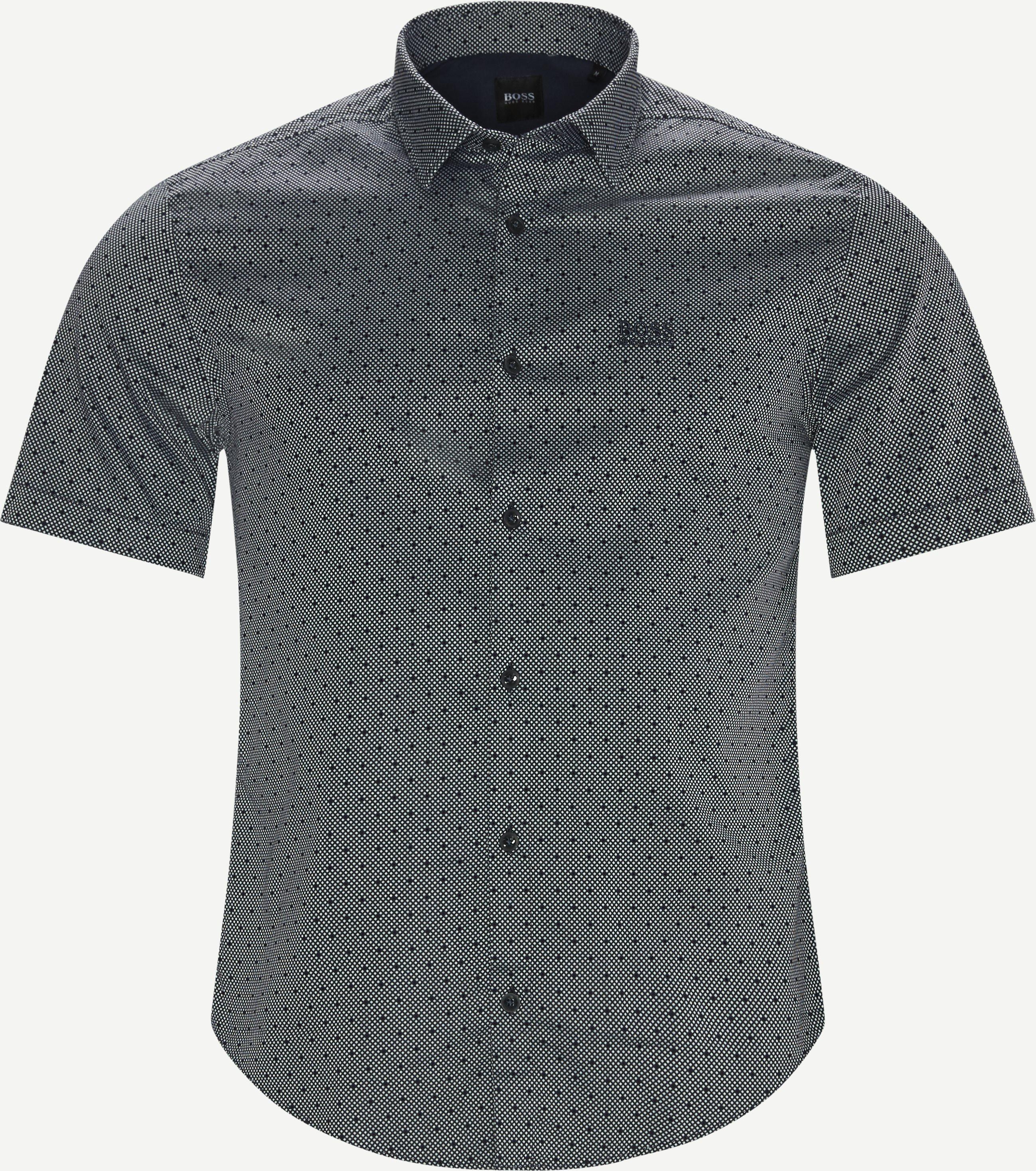 Kortärmade skjortor - Slim fit - Blå