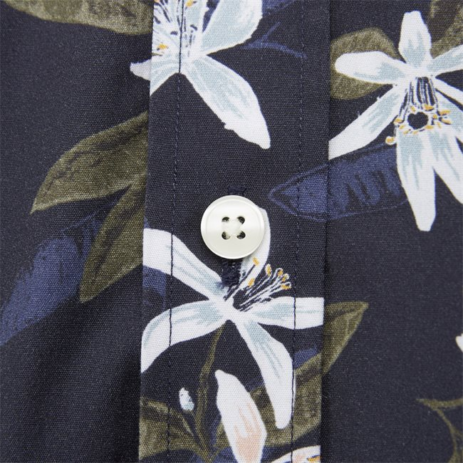 Lemon Flower Print Shirt