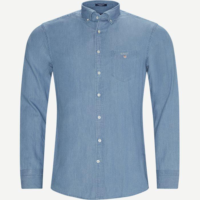 Hemden - Regular - Jeans-Blau
