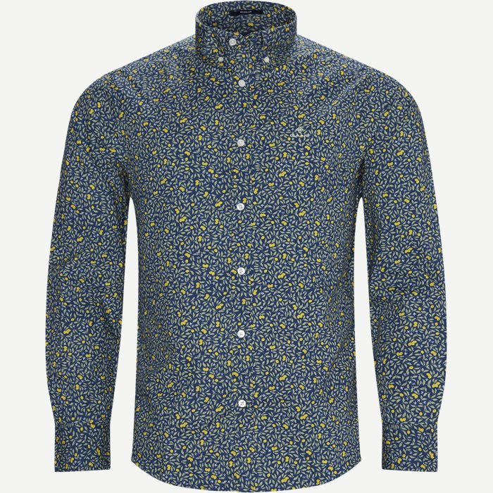 Lemonade Print Shirt - Skjorter - Regular - Blå