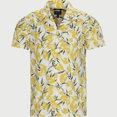 Lemon Pri Reg Riviera Collar Shirt Regular | Lemon Pri Reg Riviera Collar Shirt | Hvid